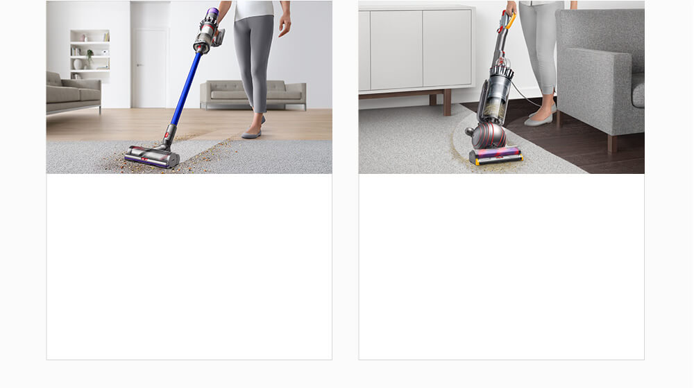 Dyson cordfree vacuum cleaner and Dyson upright vacuum cleaner